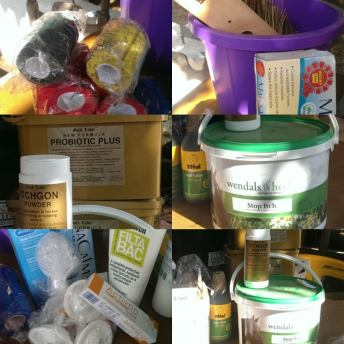 Just some of the supplements and veterinary supplies we have been able to stock up on